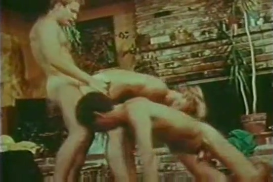 Retro gay threesome from 70s Gray squirrel sounds