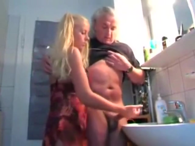 German Blonde Gives Handjob to Old Guy male freetubearchive com gay