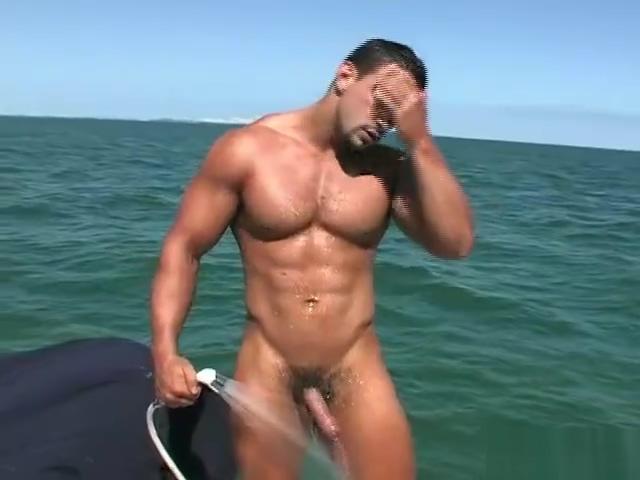 MA Macho Nacho l nude posing with a boner on a boat sex positive club gay