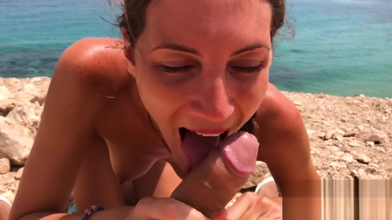 Public Sex on a Nudist Beach - Amateur Couple MySweetApple in Lanzarote Sxey Hot Movies