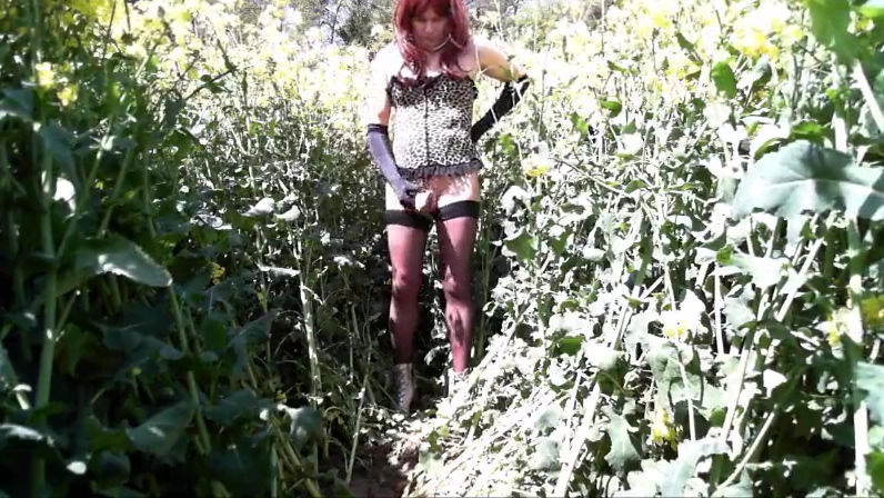 Horny Andrea jerks in the field for Mistress Melanie Kinky real asian wives peeing