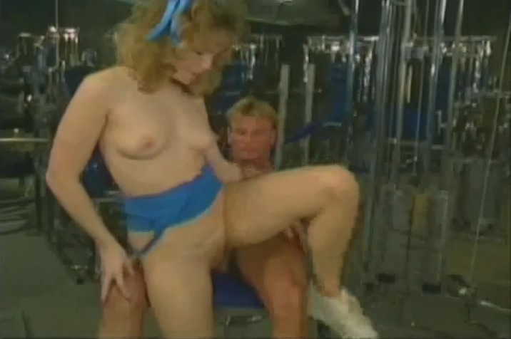 Blonde Slut Works Her Trainers Cock In Weightroom Free naked muscular jocks