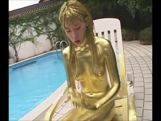 Japanese hotty with gold paint japanese massage search 4
