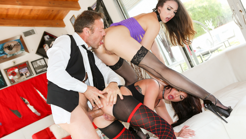Tiffany Tyler, Cassandra Nix, Rocco Siffredi in Slutty Girls Love Rocco #09, Scene #01 Very sexy prom dresses