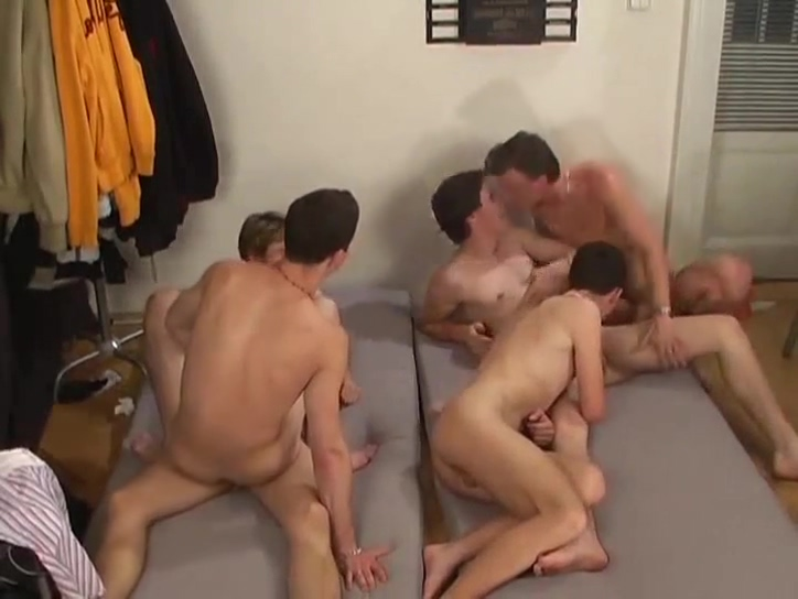 Incredible gay group orgy Busty asian cocksucking