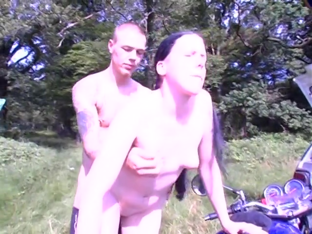 Young Couple Has Public Fun In The Woods facial hair restoration silver spring