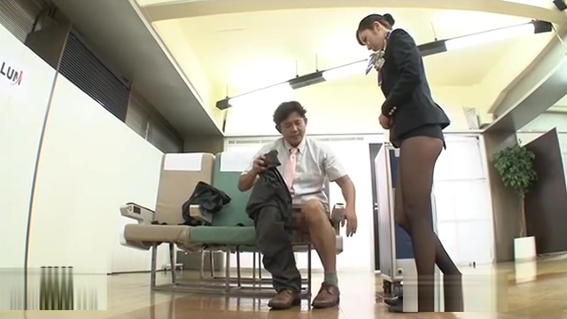 Japan Stewardess training 4 Straight guy blindfolded