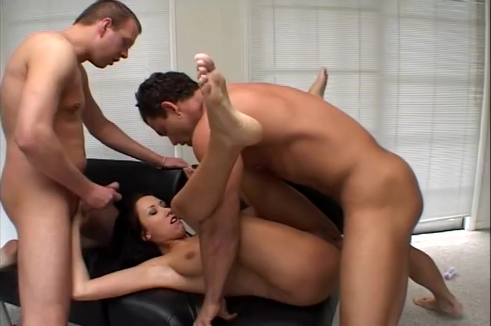 Hot Babe With Butt Plug Takes Savage Group Fucking
