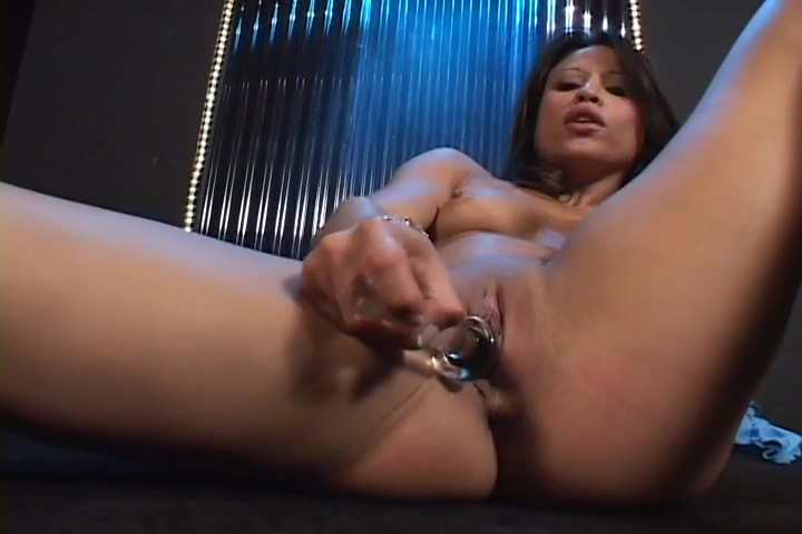 Brunette Stripper Plays With Herself On Stage
