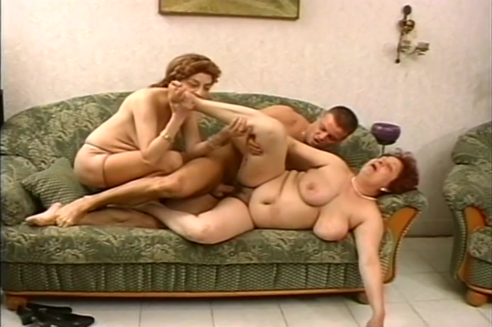 Chubby Russian Milfs Have Group Sex With Strapping Young Men