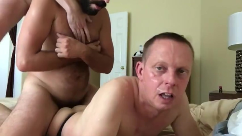 Two hot daddies breed me and cum in my face and I loved it! Bdsm recycling system