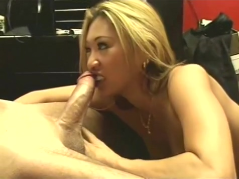 Blonde Asian Gives Wet Blowjob And Swallows The Cum