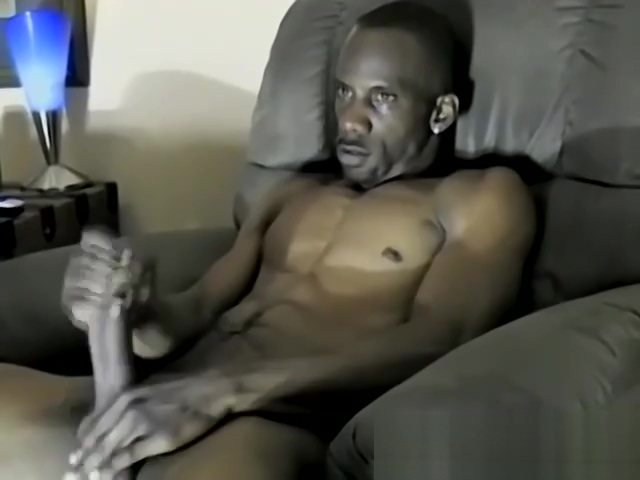 Iceberg jacks off his massive black dick like a champ Top black woman sex