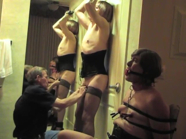 Hotel fun with Joyce and Michelle 2 girl fucking silicone male doll