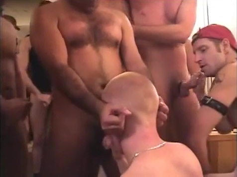 Bukkake for a gay bottom Interracial full movie