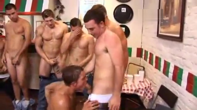 Orgy at a pizza shop Sunny leone fucked by different men