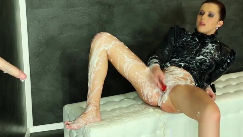 Weird Girl Covered In Cream Sucks Gloryhole Cock natural breast augmentation columbia sc