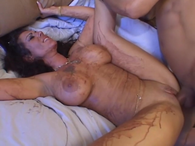Nasty Mature Lady Covered In Mud Makes A Mess