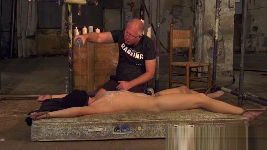 Bound slave Casper Ellis endures wax torment and choking free czech gay porn