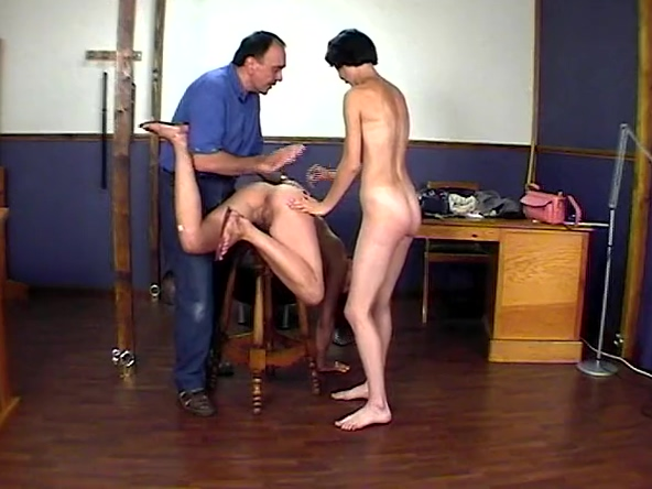 CMNF - 2 girls spanked, stripped and humiliated