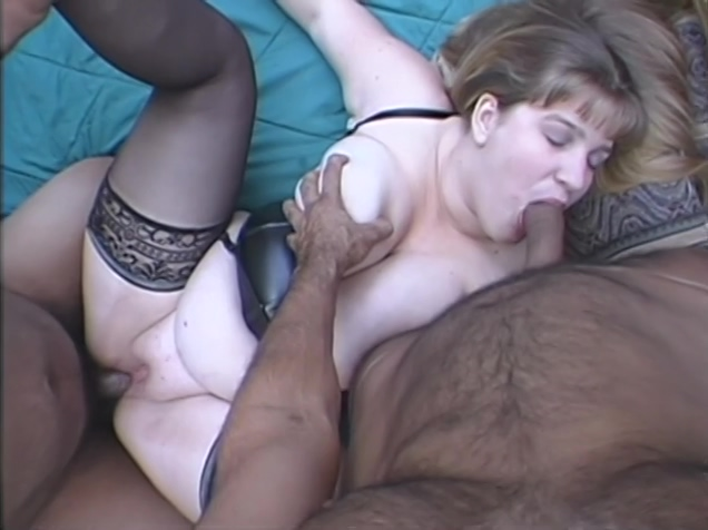 Huge boobed BBW girl fucked by grandpa and father