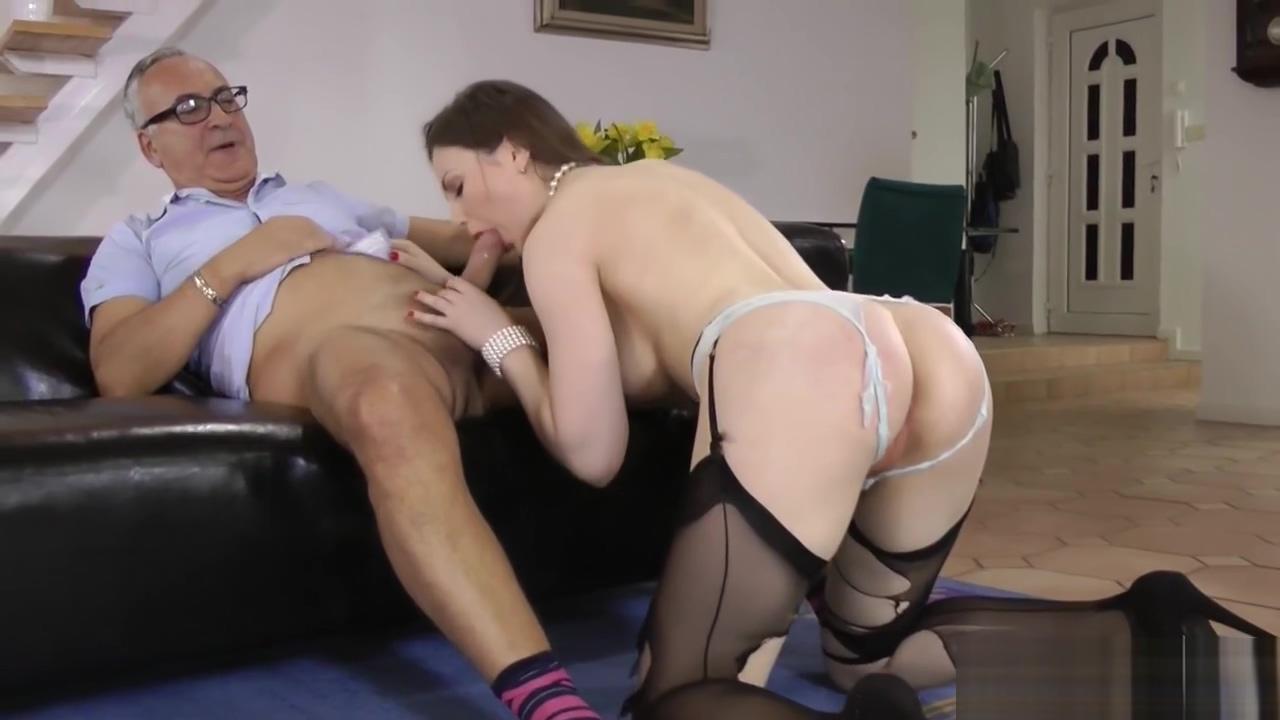 Teen gobbles senior cock Shy milf big tits