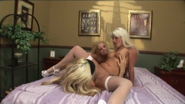 Hot Blonde Lesbians Have Fun In A Threesome