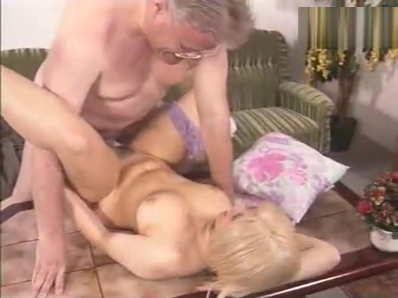 Blondie fucked by an old man Milf gets banged hard