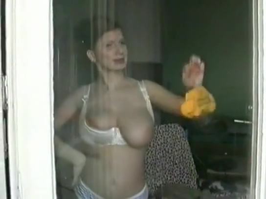 Bettie Ballhaus - At Home homemade redhead bigtits and shower