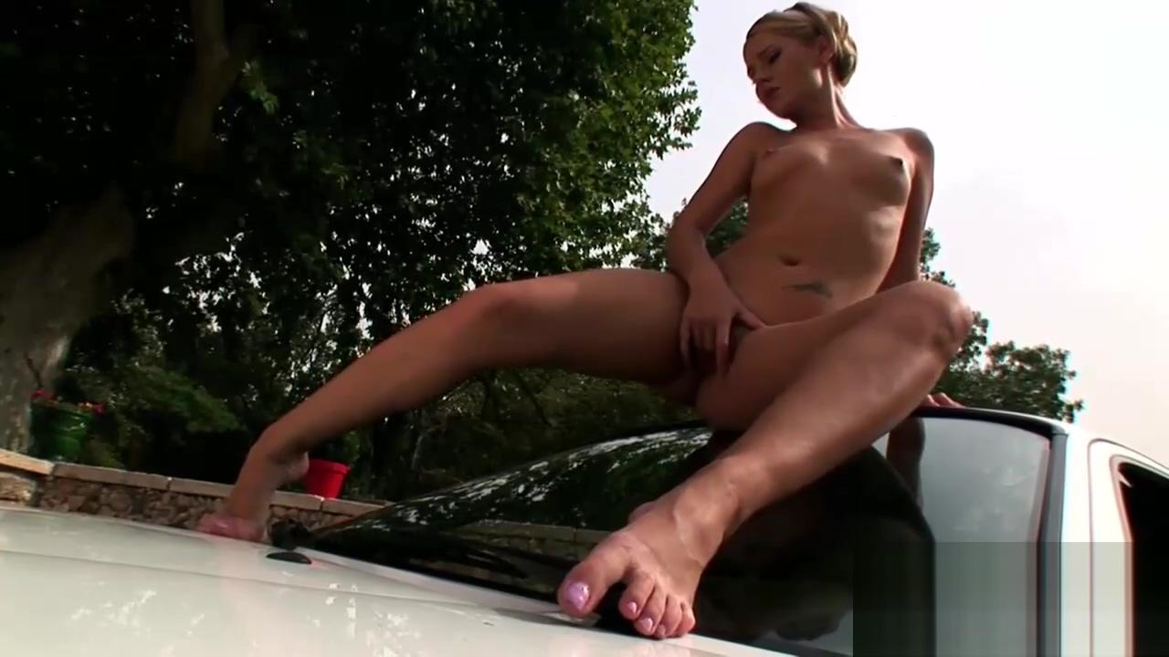 Stunning Zuzana masturbates on a car Bdbe e aff a afa