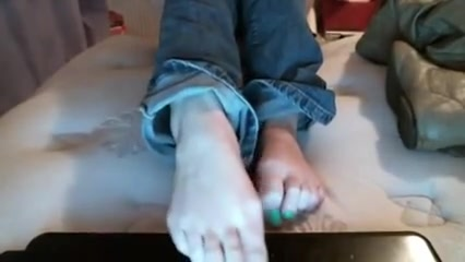 Lola stinky feet after long hot day in boots Act adult like
