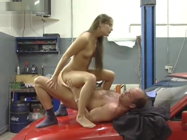 Pretty girl fucks the mechanic - Inferno Productions