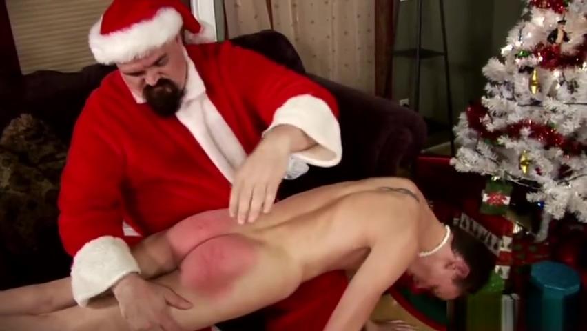 Santa Punishes Twink college girl fucking grandpa