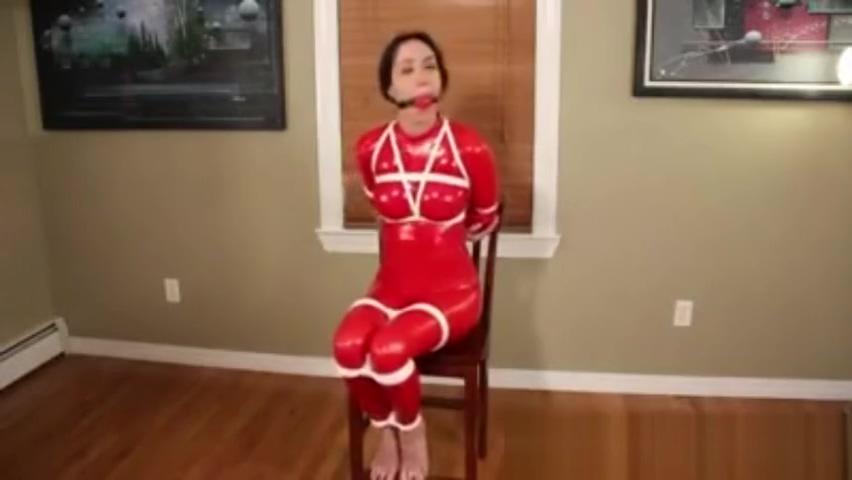 Rachel catsuit bondage