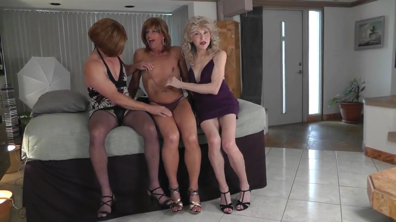 Crossdresser trio - Lesson 1 Steve o naked and hard