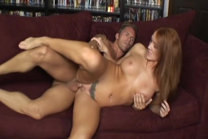 Gorgeous Red Head Anna Loves To Suck On Cock Cathy Heaven wears strapon and fucks gal