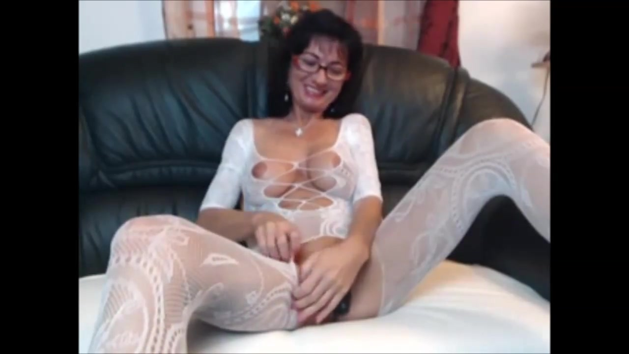 Sexy brunette MILF in body stocking plays with herself Swedish swinging couples