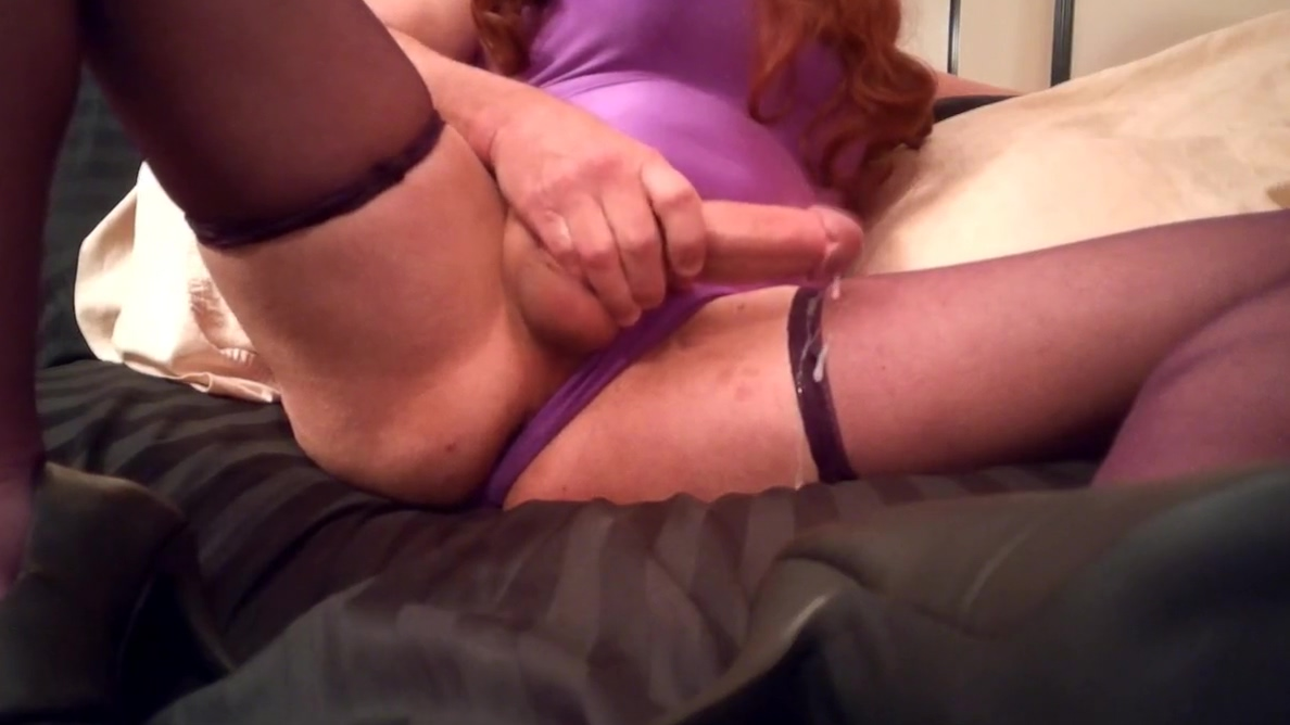 SL4UA Holly In Purple One Piece Matching Stockings Heels Amateur milf facesitting