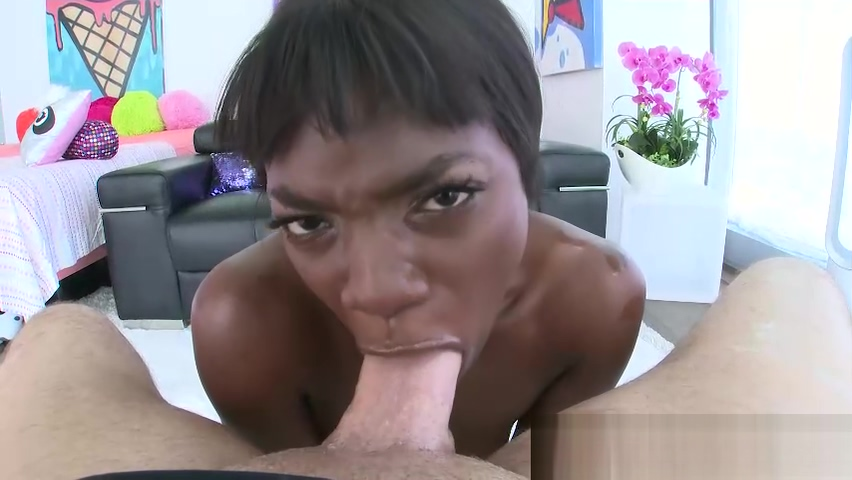 SWALLOWED Petite ebony Ana Foxxx swallows a big white cock Lonely married christian woman