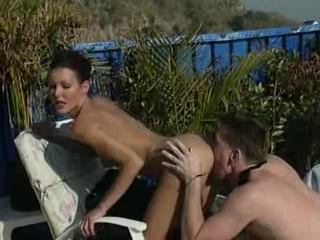 Nancy Vee - Pool Fucker with most excellent legs in porn largest cocks largest tits