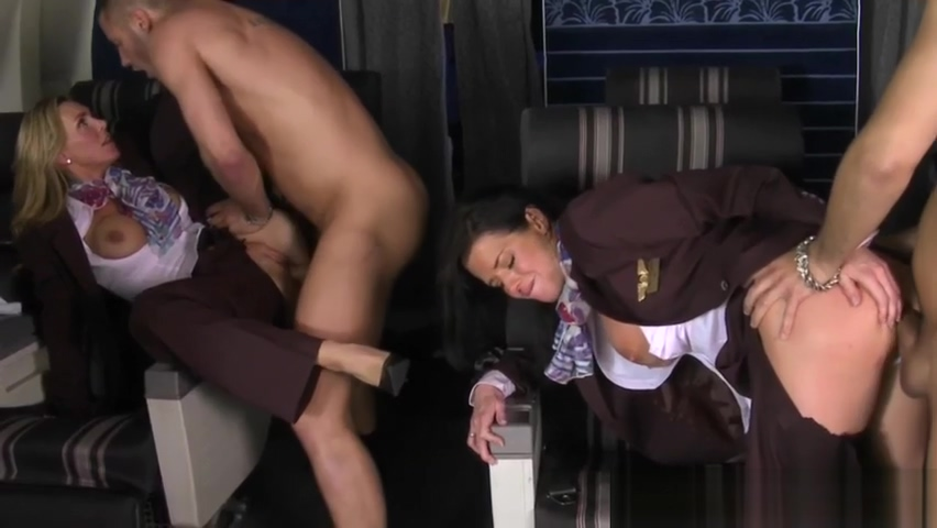 Flight attendant femdoms pussyfucked before facial from subs hardcore punk music videos