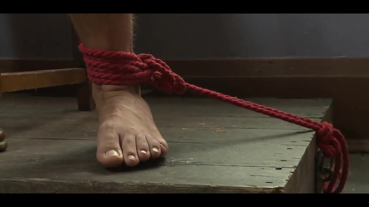 Southern Bi Stud Bound and Edged two girls give footjob