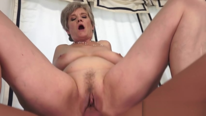 Licking a Real Horny Granny Snatch tight shirt skinny big boobs