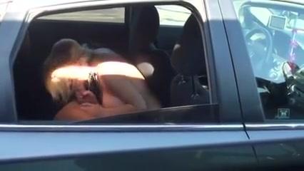 Girlfriend Goofing around the car Naked public shower sex