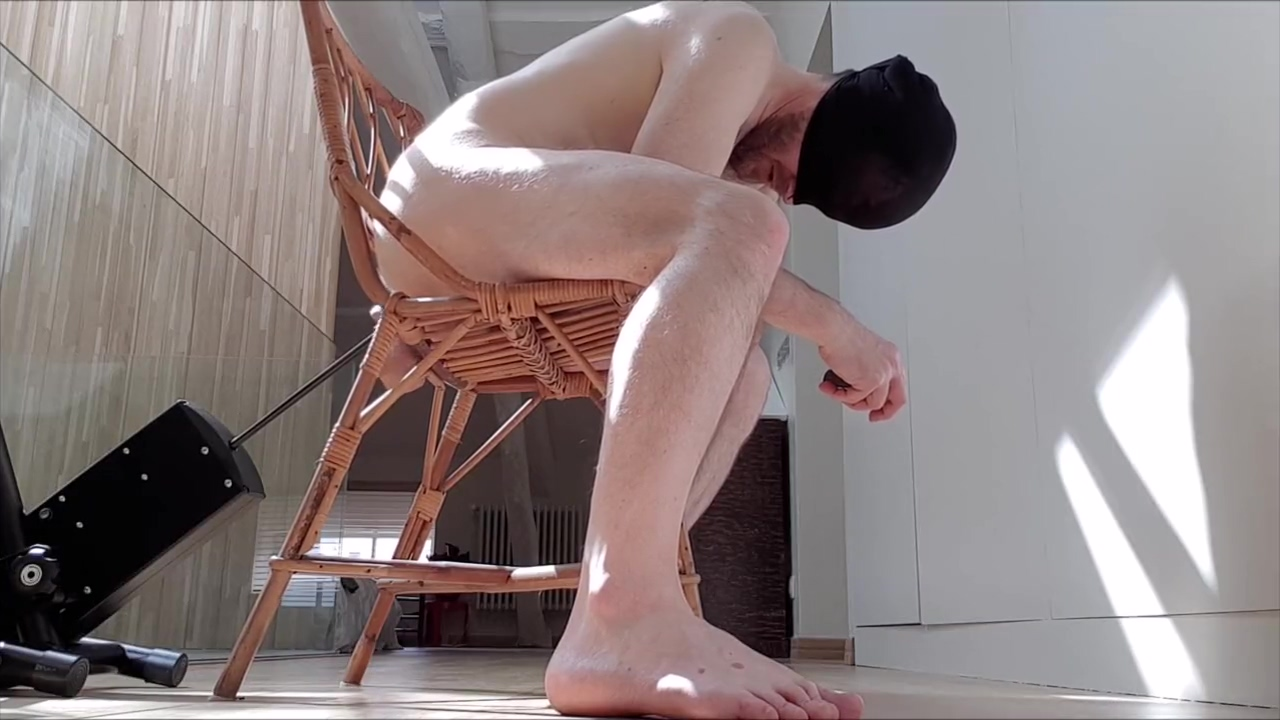Sitting on a chair and having my ass fucked by my fuck machine - huge dildo The naked mile nude scene