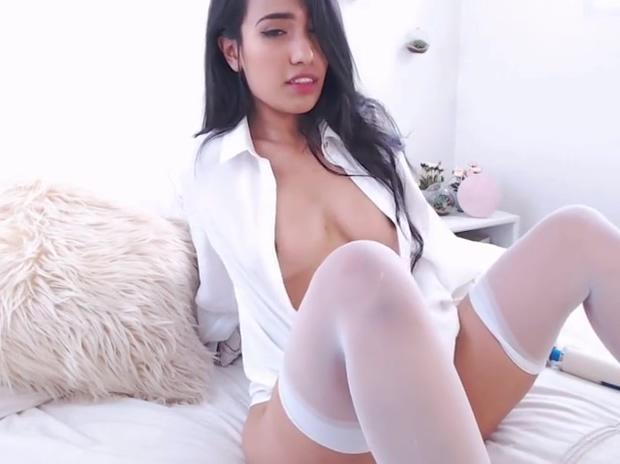 Masturbating Stockings Nipples Mature teasing big boobs