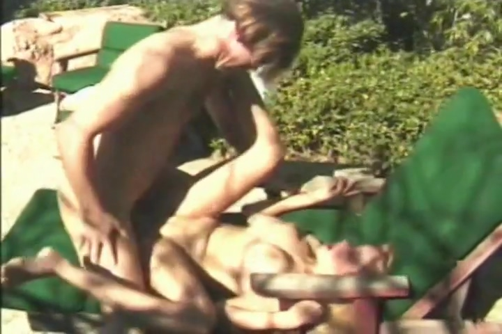 Slutty blonde with big tits is fucked hard from behind