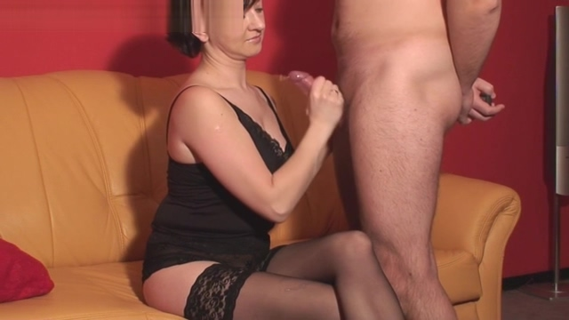Handjob and nylon lesbian this is not their first time threesome