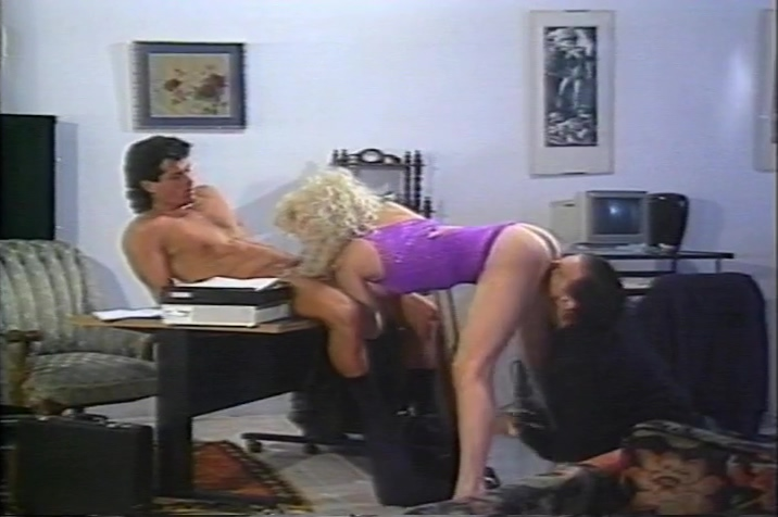 Slutty blonde takes on two big cocks in her ass