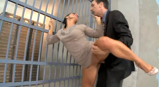 Sandra Romain - Prison Anal Sex Big tits and ass tease in bed